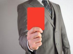 レッドカードのイメージ画像